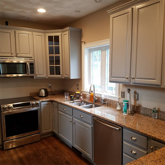 kitchen cabinet painting refinishing like new in MA NH